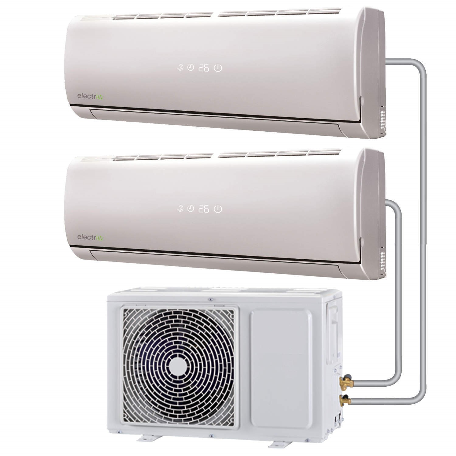 Multi Split 24000 BTU Inverter Air Conditioner System With Single Outdoor  Unit And Two 12000