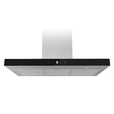 electriQ 90cm Stainless Steel Slimline Touch Control Cooker Hood