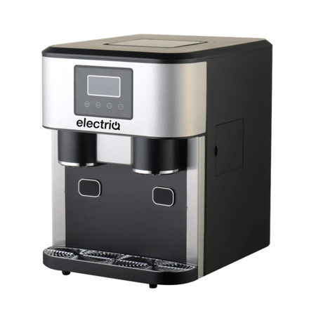electriQ Counter Top Ice Maker and Water Dispenser in Stainless Steel