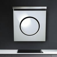 Elica IO-GME-WH iO Angled 80cm Chimney Cooker Hood White Glass with External Motor