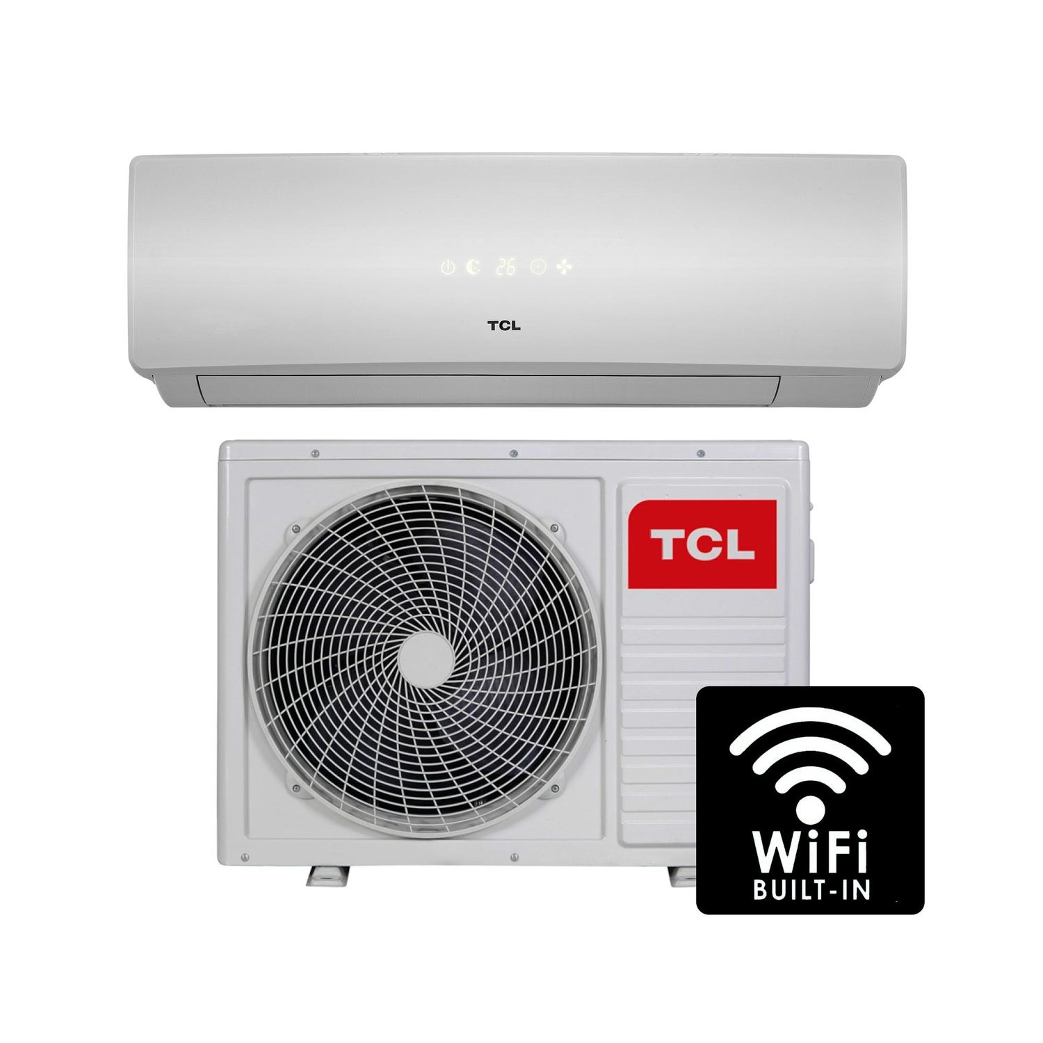 GRADE A1 - TCL 9000 BTU WIFI Smart A++ easy-fit DC Inverter Wall ...