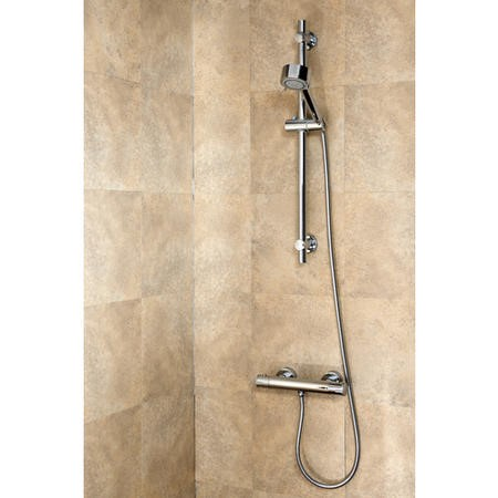 Thermostatic Bar Valve & Round Slide Rail Mixer Shower Kit
