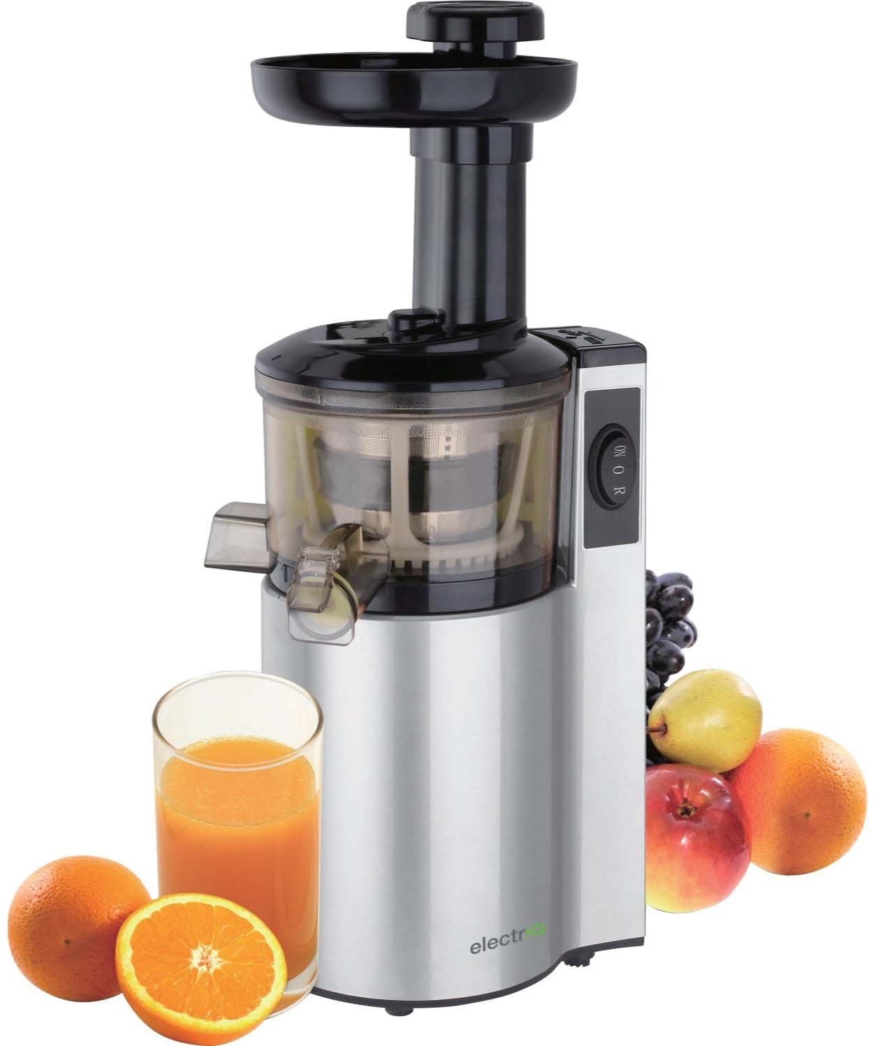 Slow Juicer Greenis : ElectriQ Premium Slow Juicer great for cold pressed Greens Juices and Smoothies - BPA Free ...