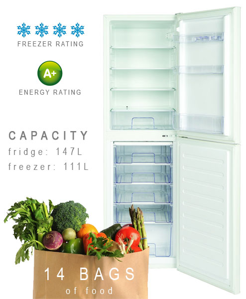 444443237 LEC fridge freezer