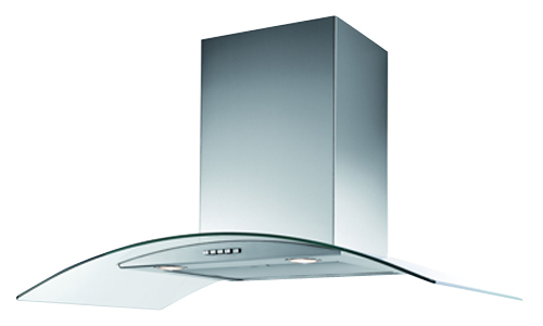 60cm curved canopy cooker hood