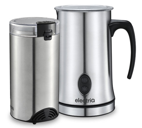 coffee grinder and milk frother