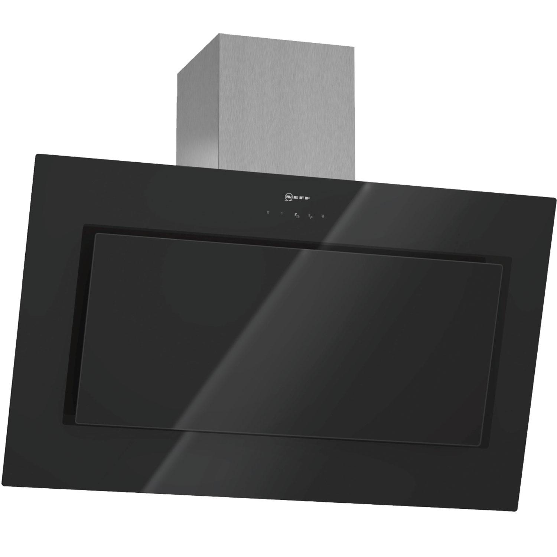 neff d39e49s0gb angled 90cm chimney cooker hood with black. Black Bedroom Furniture Sets. Home Design Ideas