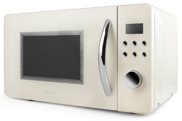 EIQMW8CREAM electriQ cream retro microwave