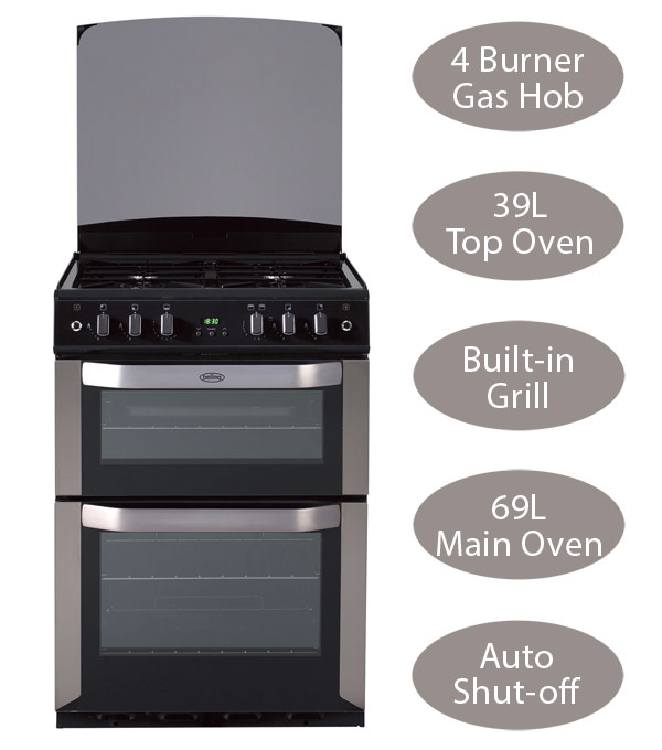 Belling FSG60DOP Double Oven Gas Cooker