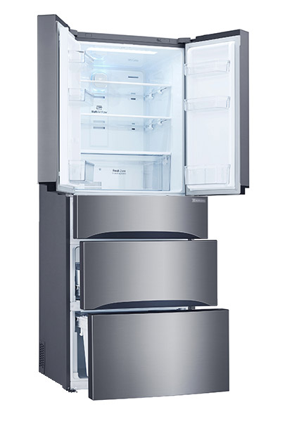 LG GB6140PZQV fridge and freezer with spacious storage