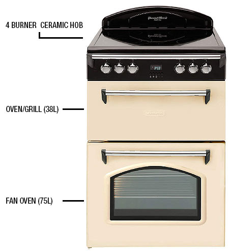 Leisure Grb6cvc Heritage Double Oven 60cm Electric Cooker