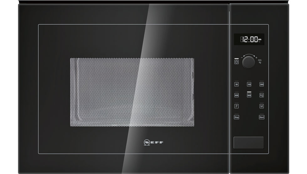 Neff H12we60s0g 900w 25l Built In Standard Microwave Black