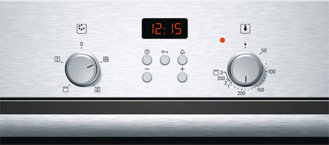 Bosch HBN331E4B multifunction oven and programmable timer