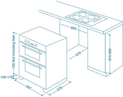 Indesit Fimu23bks Electric Built-under Double Oven
