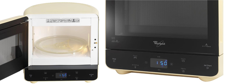Whirlpool max35crg max 35 microwave with steam function cream appliances di - Whirlpool micro onde max ...