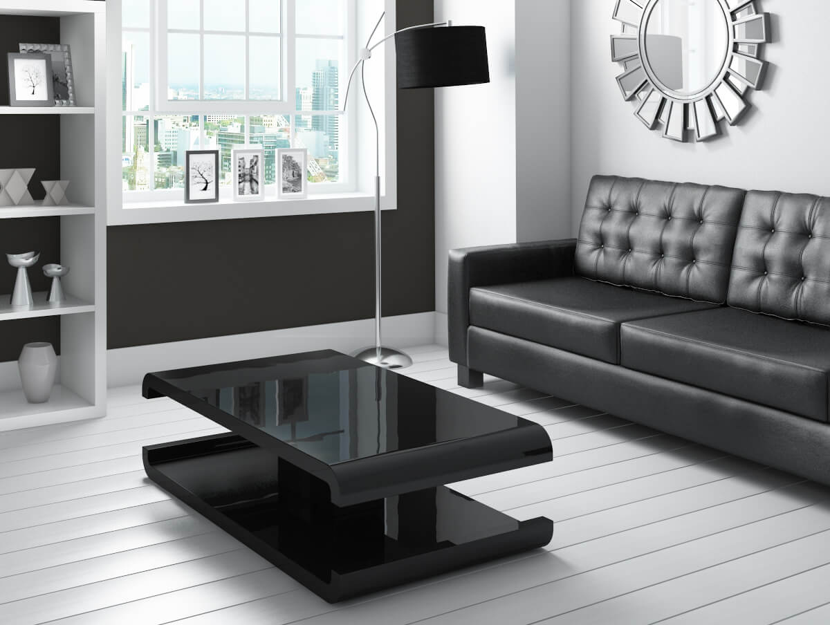 Tiffany black high gloss coffee table with led lighting tiff010 ebay item description geotapseo Image collections