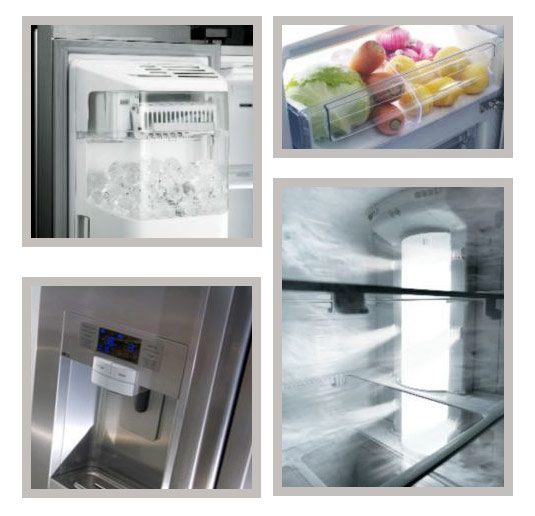 Samsung RSG5UUSL1 fridge freezer open