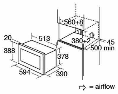 VM130SS fitting dimensions