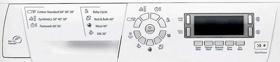 Hotpoint My Cycle, 12 washing programmes