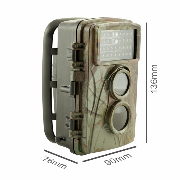 Compact wildlife camera dimensions