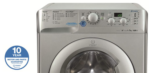 Indesit Innex XWD71452S Push & Wash, Water Balance