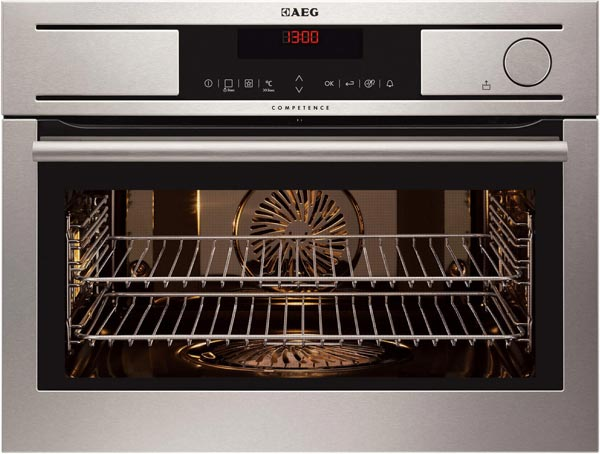 AEG compact steam oven with ProCombi technology