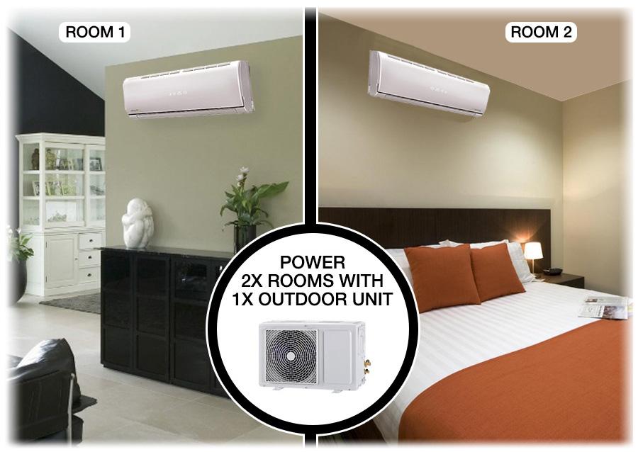 Multi Split 18000 Btu Inverter Air Conditioner With Single
