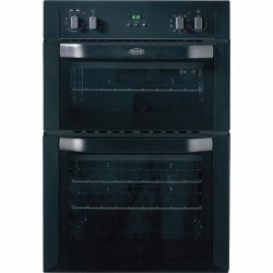BI90MF Multifunction Electric Built-in Double Oven in Black