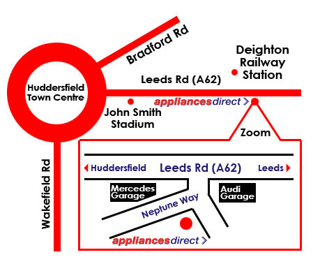 Huddersfield Store Location Map