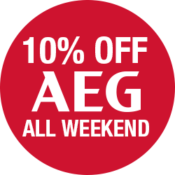 10% Off AEG all Weekend.