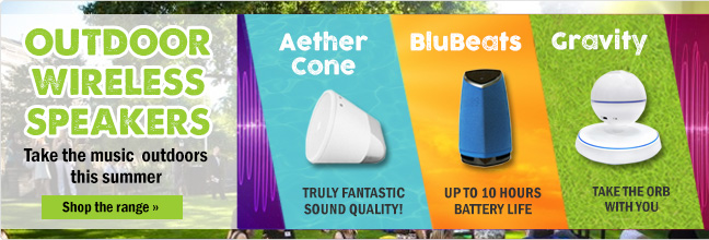 Outdoor Wireless speakers from £9.95
