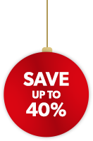 Save up to 40%.