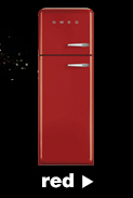 Smeg Fridge Freezers in red