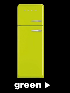 Smeg Fridge Freezers in green