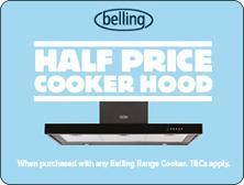 belling half price cooker hood