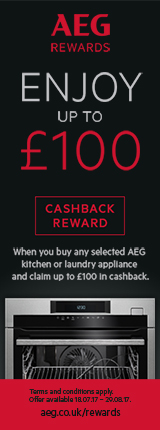 AEG Late Summer Cashback Offer