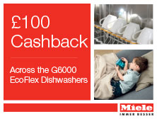 Miele 100 dishwasher cashback offer