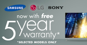5 Year Warranty on Selected TVs