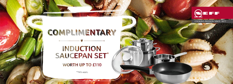Complimentary Induction Saucepan Set from Neff