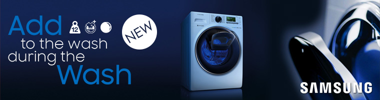 Free Delivery on selected Samsung appliances with code SAMSUNG-FREE