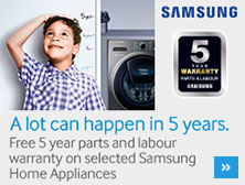 Samsung 5 year warranty