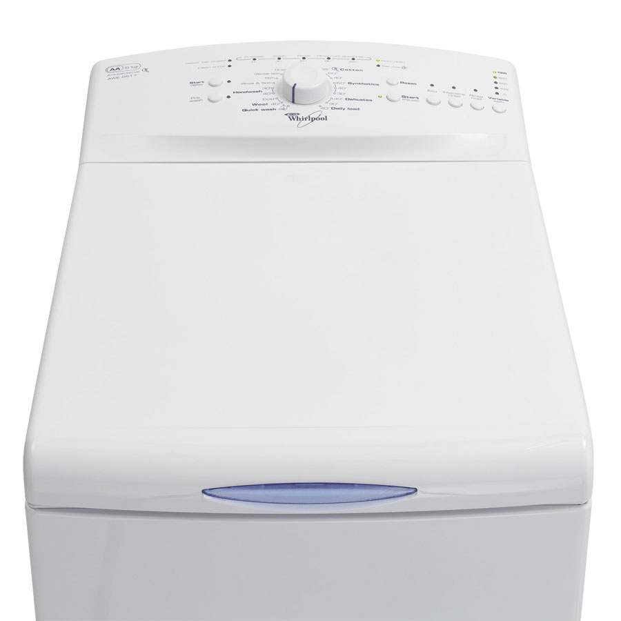 Whirlpool AWE6761 Top-loading Washing Machine, Tailor washing with hand wash, delicate and more cycles. Delay timer up to 12 hours