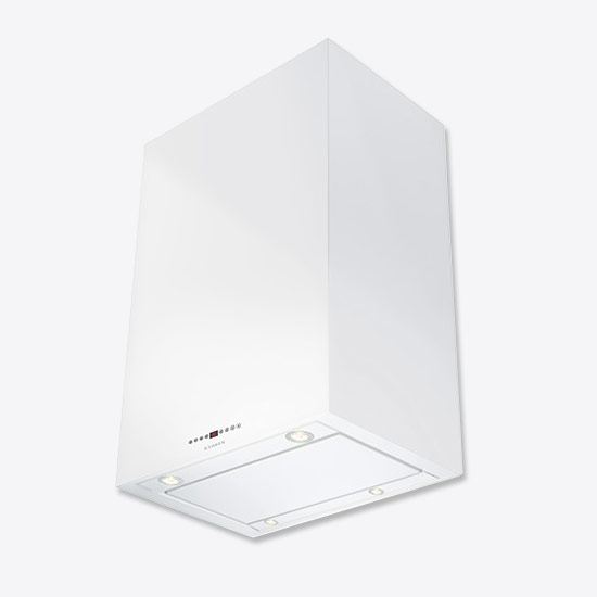 Faber Cubia Isola Gloss White Island Cooker Hood