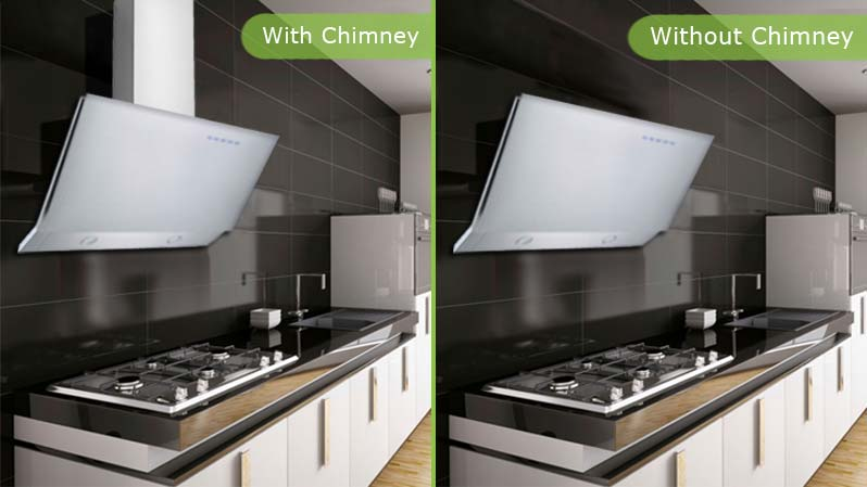 Electriq Angled Stainless 90cm Cooker Hood Includes