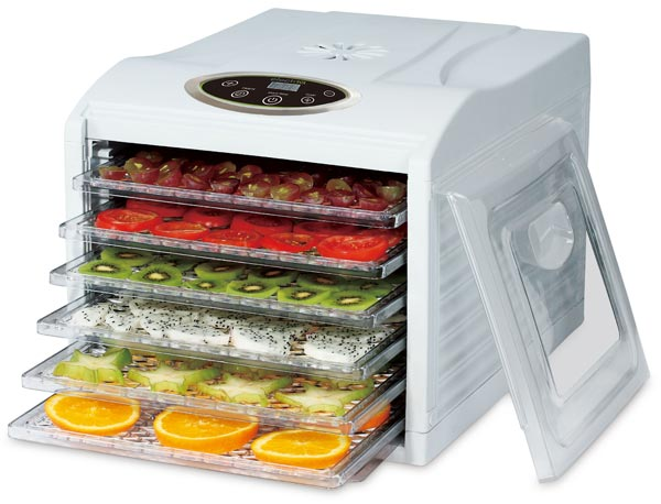 electriQ Digital Dehydrator with 6 shelves