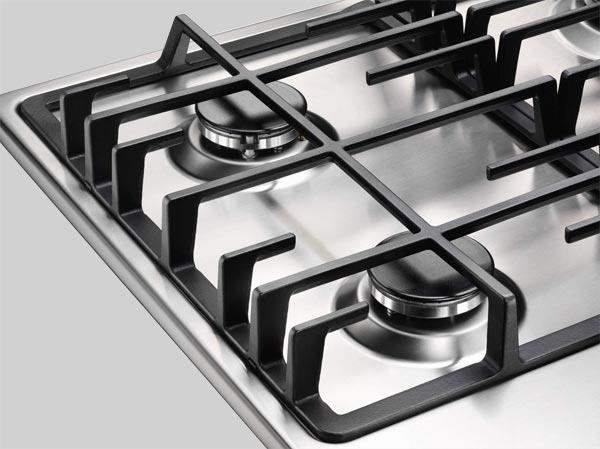electrolux egg7355nox five burner gas hob stainless steel. Black Bedroom Furniture Sets. Home Design Ideas