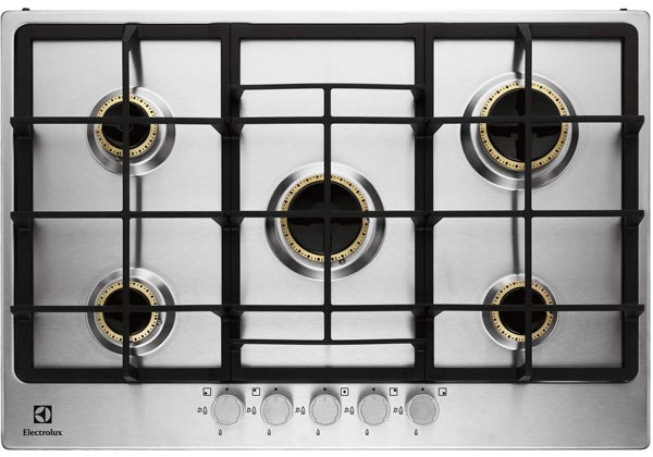 Electrolux EGG7355NOX Vertical Flame 5 burner gas hob