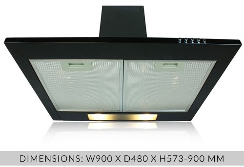 eiQ90CHIMNEYBL chimney cooker hood