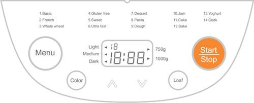 electriQ Bread Maker Machine Automatic with 14 Programmes Gluten Free Programme