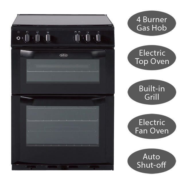 Belling Dual Fuel Double Oven Cooker